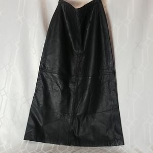 Brandon Thomas black genuine leather skirt size 8